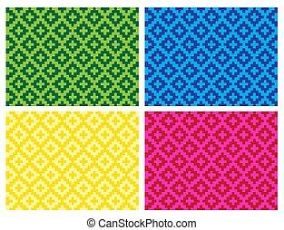 (anyaman), coloré, ethnique, texture, plat, décoratif, tissé, fond, 16, beau