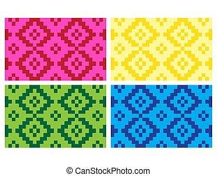 (anyaman), coloré, ethnique, texture, plat, décoratif, tissé, fond, 17, beau