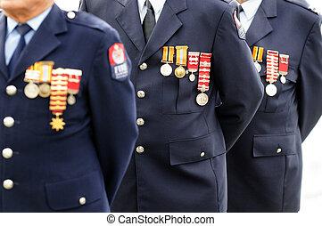 anzac, día, -, monumento de guerra, servicio