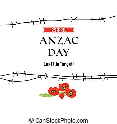 Anzac day background for design banner,ticket, leaflet and...