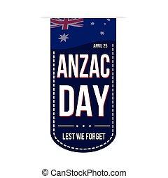 Anzac Day banner design