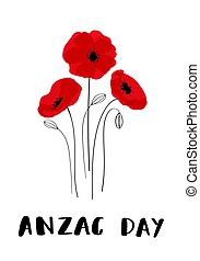 ANZAC Day card in vector format. - ANZAC DAY. Australia New...