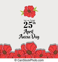 Anzac day memorial to militar war