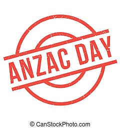 Anzac Day rubber stamp
