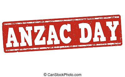 Anzac Day stamp - Anzac Day grunge rubber stamp on white...