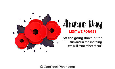 Anzac Day vector card.