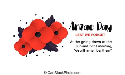 Anzac Day vector poster.