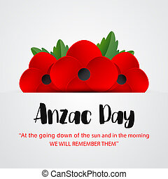 Anzac Day vector poster. Lest We forget.