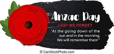Anzac Day vector poster on a hand drawn ink background.