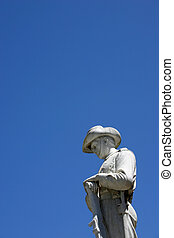ANZAC statue with blue sky background