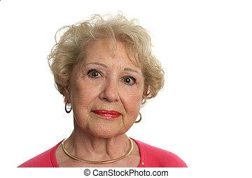 anziano, bello, donna