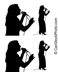 anziano, cantante, femmina