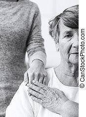 anziano, caregiver, donna