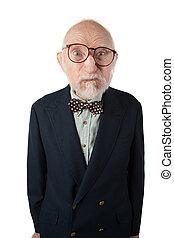 anziano, disgustoso, sgradevole, spiacevole, uomo