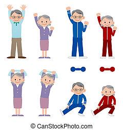 anziano, esercitarsi