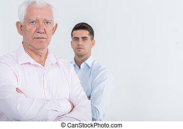 anziano, padre, maturo, figlio