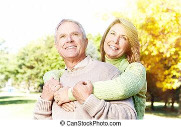 anziano, portrait., coppia