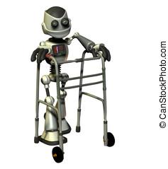 anziano, robot, cittadino