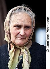 anziano, rurale, donna