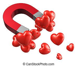 anziehungskraft, begriff, liebe