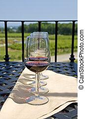 ao ar livre, degustação vinho