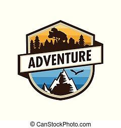 ao ar livre, escudo, desenho, aventura, original, emblema