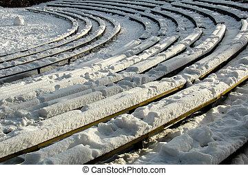 ao ar livre, inverno, teatro