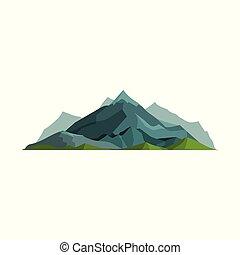 ao ar livre, natural, geologia, ilustração, vetorial, desenho, montanhas, elemento, montanhoso, paisagem