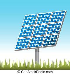 ao ar livre, painel solar
