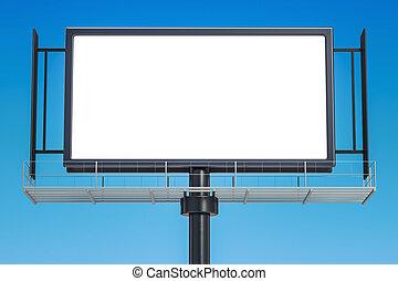 ao ar livre, vazio, anunciando, billboard, 3d, fazendo