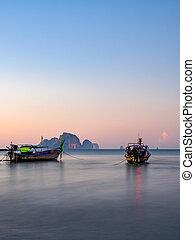Ao Nang beach at sunset