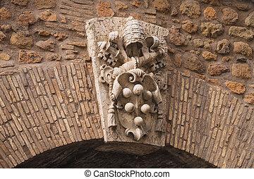 ao redor, parede, agasalho, Roma, braços,  ita, Vaticano, portão