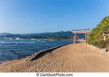 aoshima, 島, 日光, 鳥居, 日本語