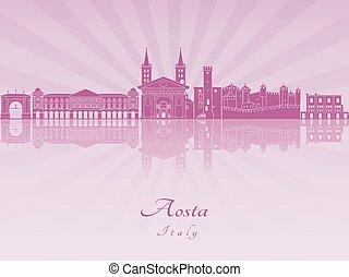 Aosta skyline in purple radiant orchid