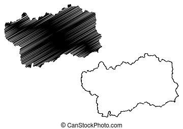 Aosta Valley map - Aosta Valley (Autonomous region of Italy)...