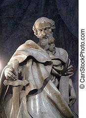 apóstol, paul, estatua, c/