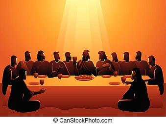 apôtres, jésus, sien, partagé