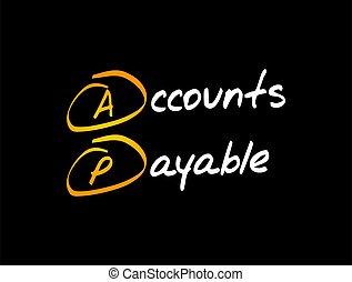 AP - Accounts Payable acronym, business concept background