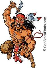 apache, guerrero, norteamericano, nativo