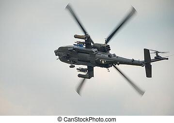 apache, hélicoptère, attaque