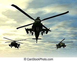 apache, helicópteros