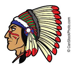 apache, tête