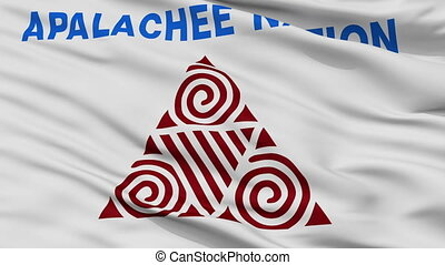 Apalachee Nation Indian Flag Closeup Seamless Loop -...