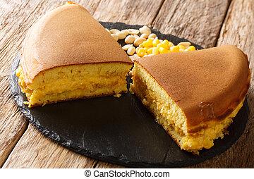 Apam balik is a Southeast Asian fluffy pancake with cream ...