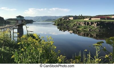 Aparan Reservoir Aragat region Armenia