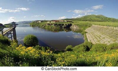Aparan Reservoir Armenia timelapse