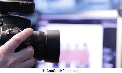 aparat fotograficzny, studio