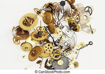 aparato de relojería, roto, mecanismo