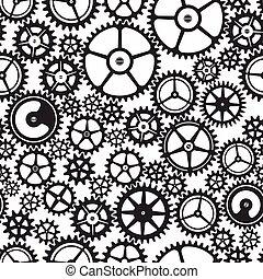aparato de relojería, seamless, monocromo, patrón