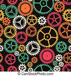 aparato de relojería, seamless, textura, coloreado